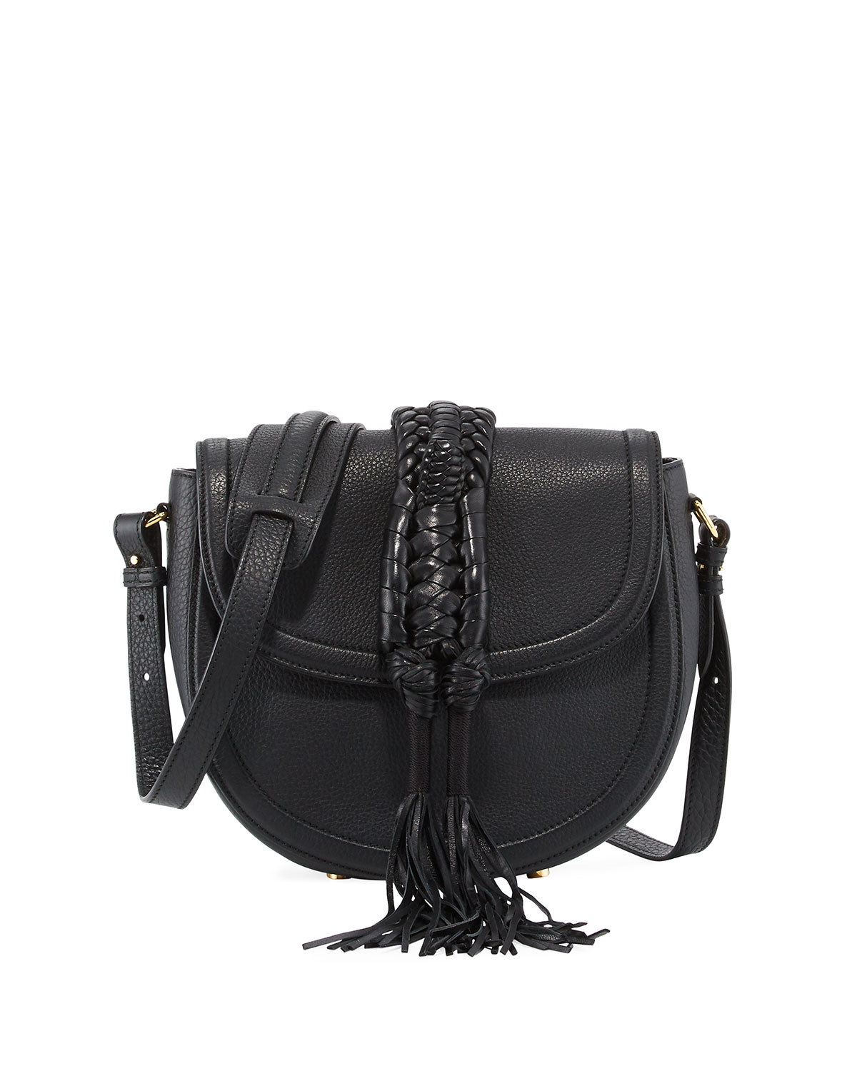 Ghianda Small Knot Saddle Bag, Black