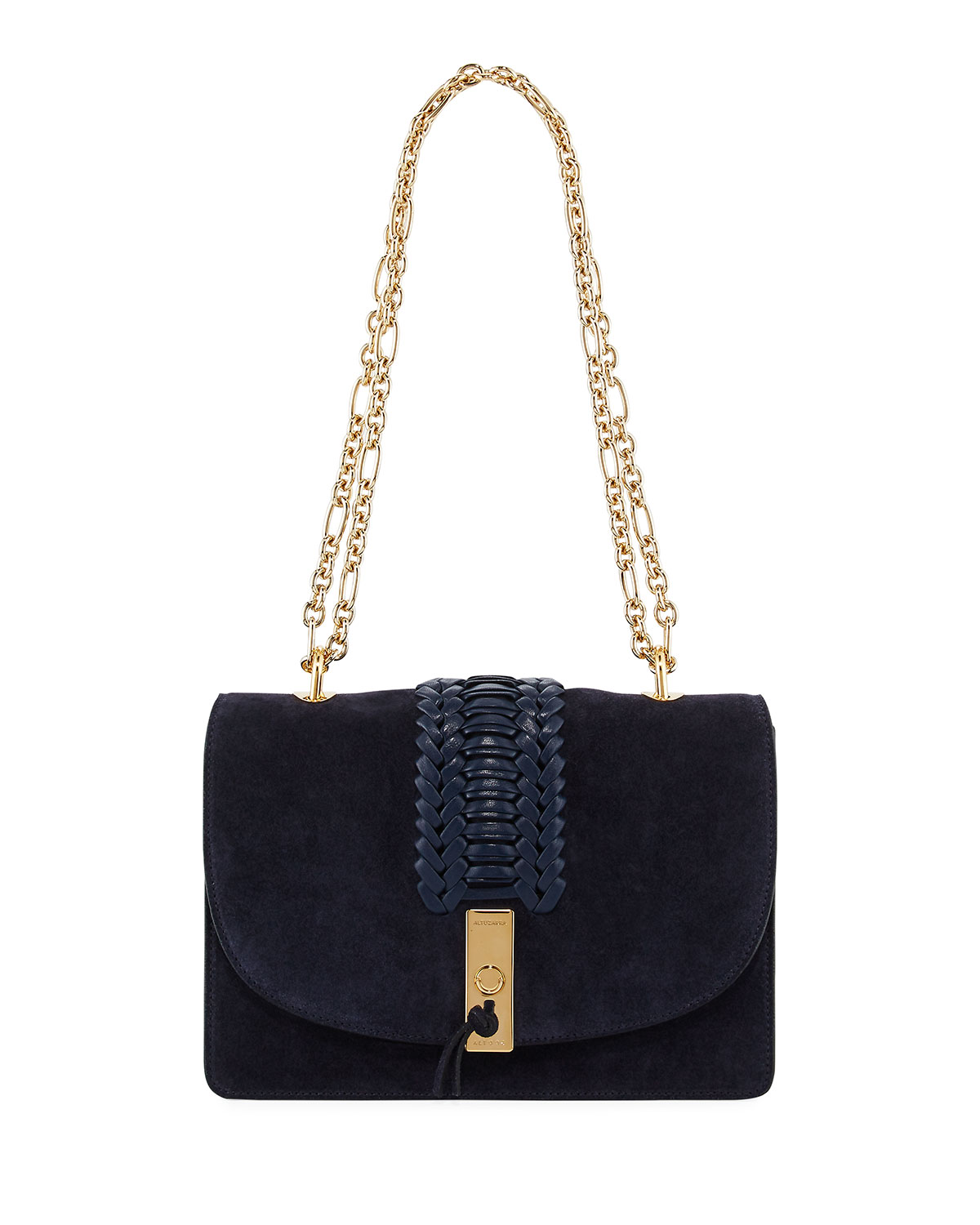 Ghianda Braided Chain Shoulder Bag, Blue