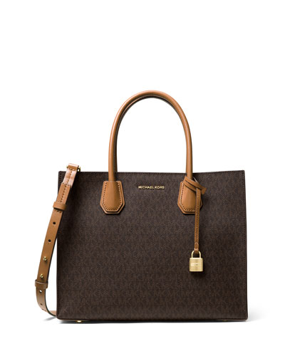 Mercer Large Logo Tote Bag, Brown