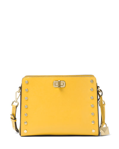 Sylvie Stud Medium Messenger Bag, Sunflower