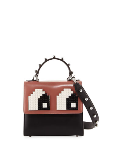 Mini Alex Eyes Fringe Satchel Bag