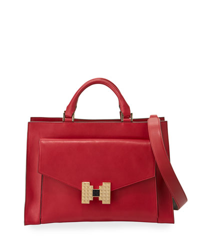Sandra Ribbon Shoulder Bag, Red