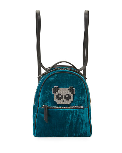 Back Mick Metal Panda Backpack, Turquoise
