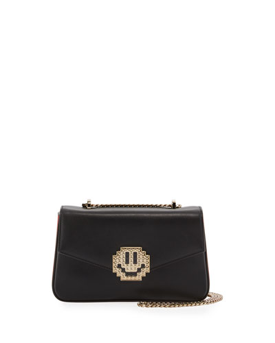 Ivy Metal Smile Shoulder Bag, Black/Multi