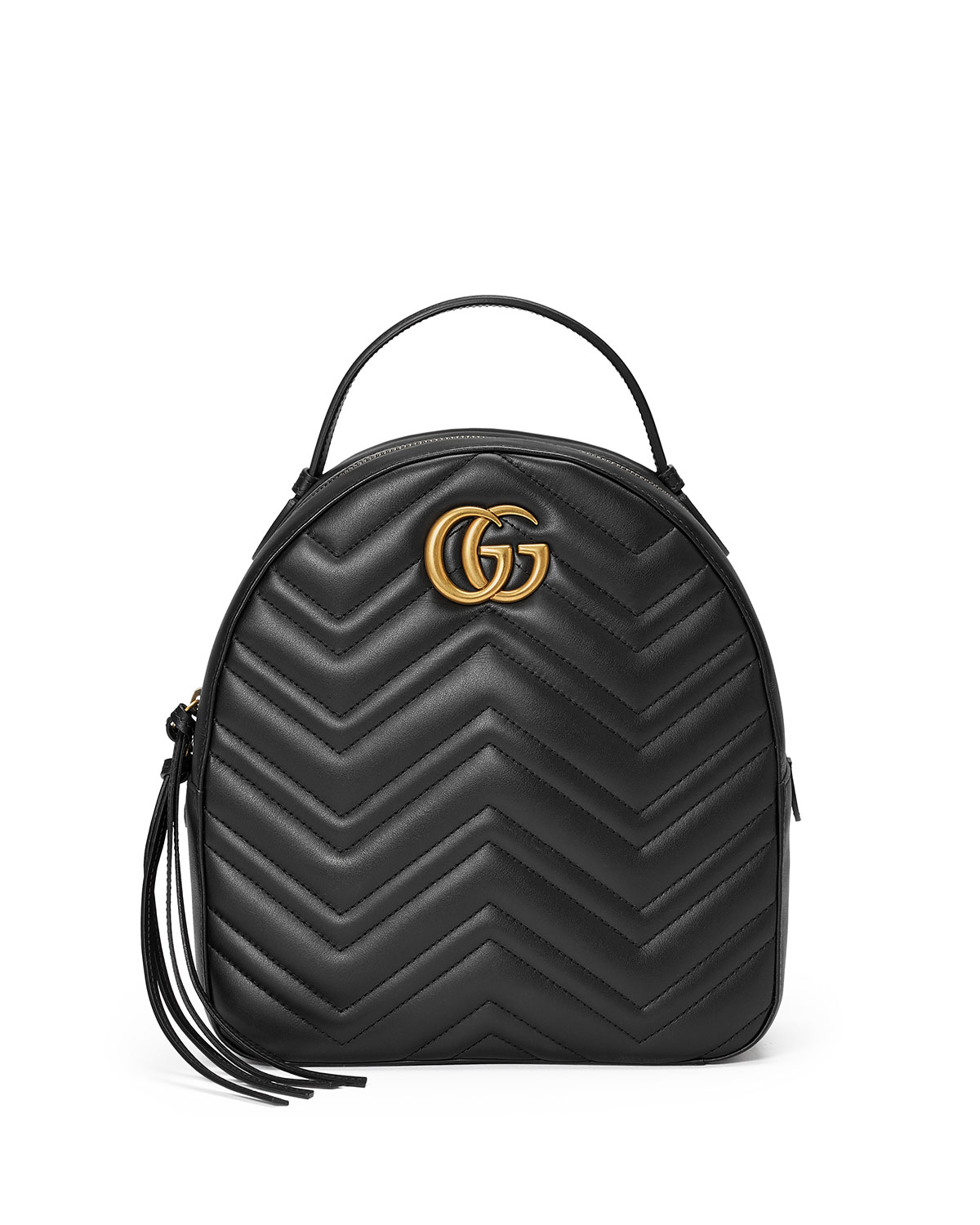 GG Marmont Quilted Leather Backpack, Black