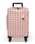 Voyager Visetos Travel Trolley/Rolling Carryon Suitcase, Pink