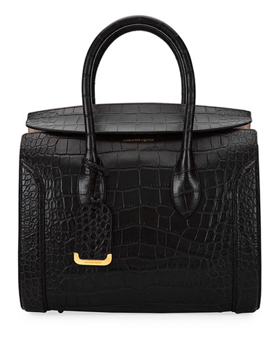 Heroine 35 Small Croc-Embossed Leather Tote Bag