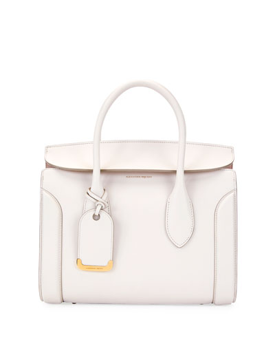 Heroine 30 Small Sweet Calf Leather Tote Bag, Off White