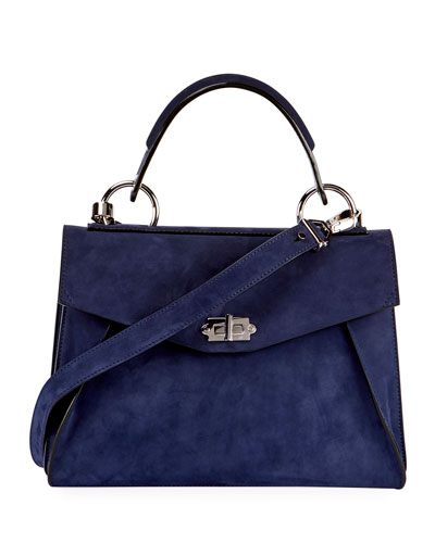 Hava Medium Top-Handle Satchel Bag, Blue