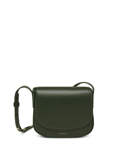 Mini Flap Leather Crossbody Bag