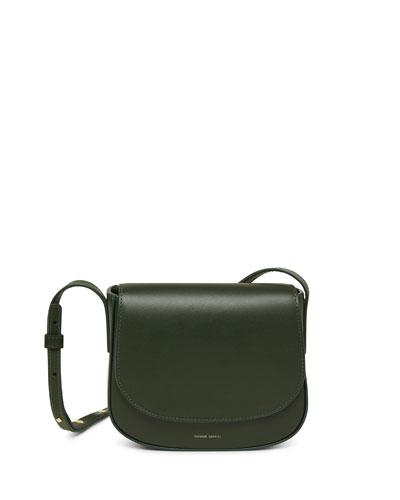 Mini Flap Leather Crossbody Bag