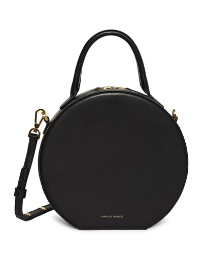 Circle Vegetable-Tanned Leather Crossbody Bag