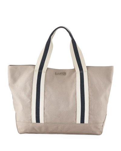 Bahamas Large Canvas Beach Tote Bag, Neutral