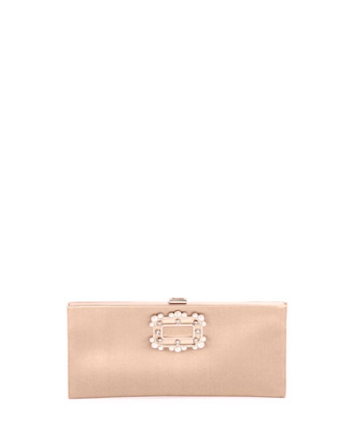 Pilgrim Small Boudoir Clutch Bag, Champagne