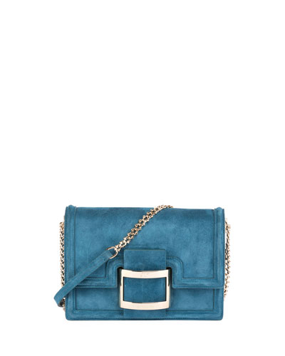 Viv Micro Buckle Shoulder Bag, Teal