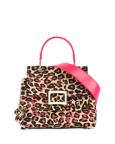 Viv Cabas Mini Satchel Bag, Leopard