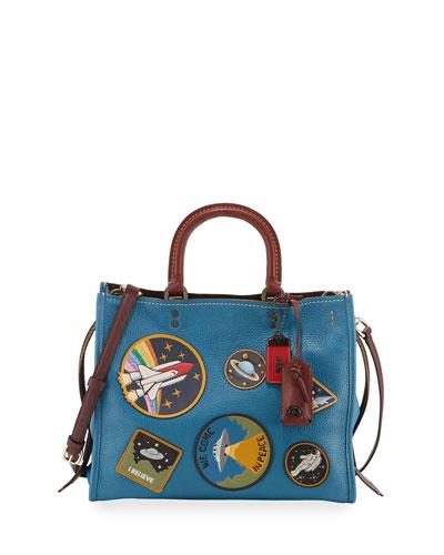 Rogue Space Patches Shoulder Bag, Blue