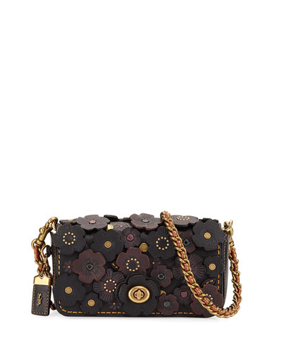 Dinkier Tea Rose Crossbody Bag, Black/Multi