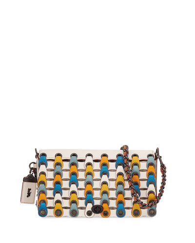 Dinky Link Colorblock Crossbody Bag, White