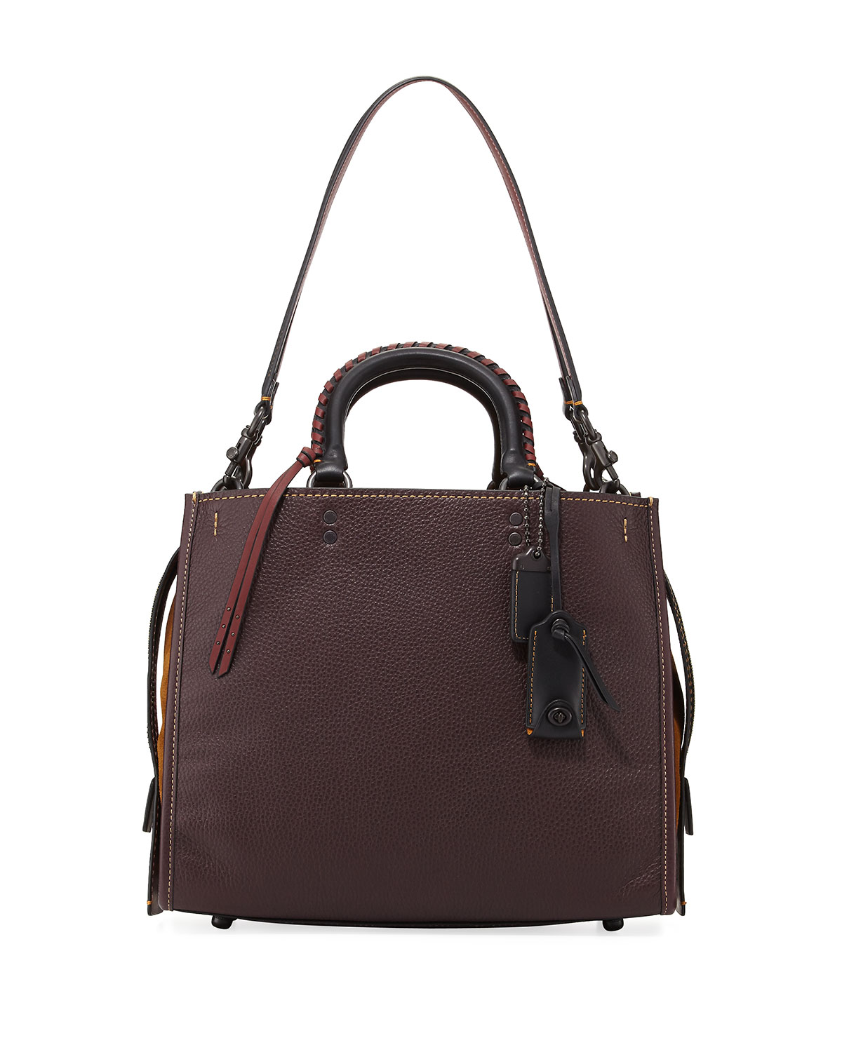 Rogue Pebbled Leather Bag with Whipstitched Handles