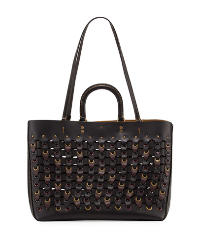 Rogue Colorblock Linked Tote Bag, Black