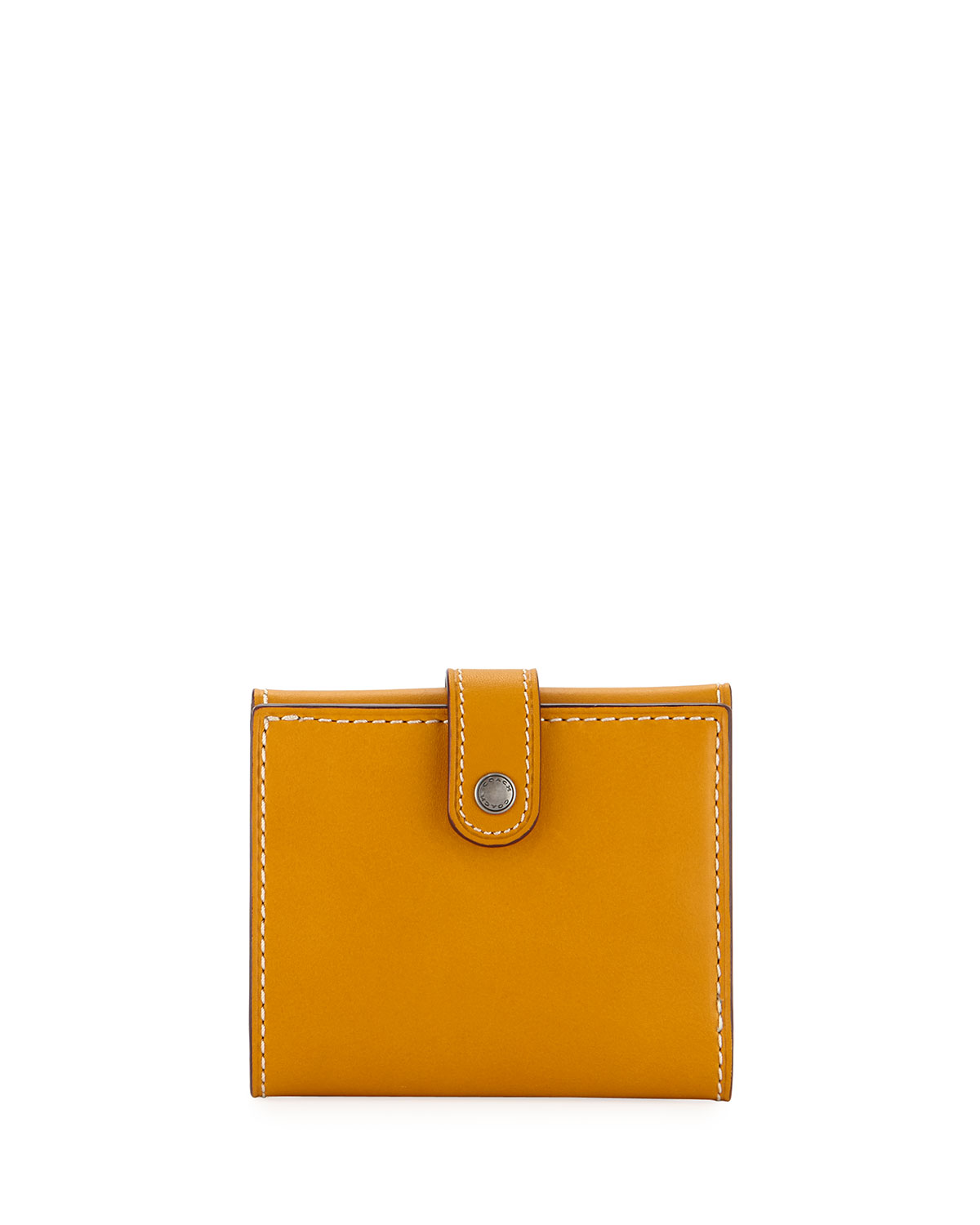 Coach Smooth Trifold Snap Wallet, Gold