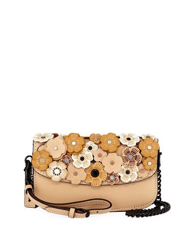 Tea Rose Leather Clutch Bag