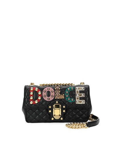 Lucia Dolce Embellished Shoulder Bag
