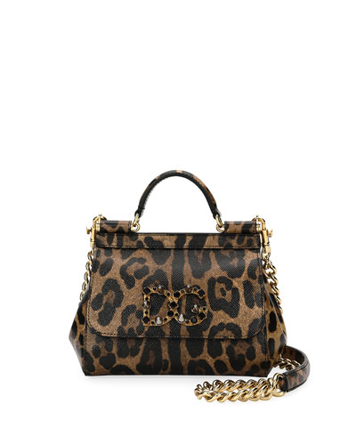 Sicily Mini Shoulder Bag, Leopard