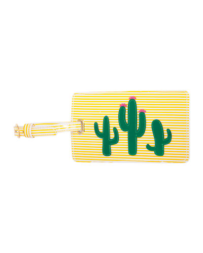 Cacti Luggage Tag, Yellow/Multi