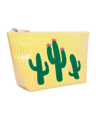 Avery Medium Cosmetics Bag, Cacti