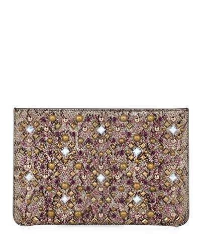 Loubiclutch Glitter Clutch Bag