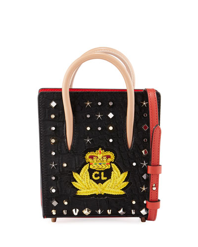 Paloma Nano Calf Hair Tote Bag with Crest