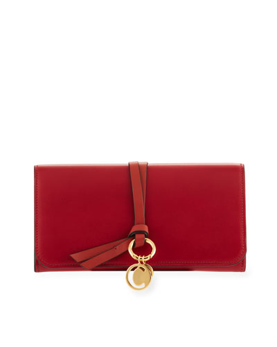 Alphabet Smooth Leather Continental Flap Wallet