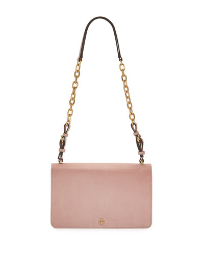 Sadie Velvet Chain Shoulder Bag