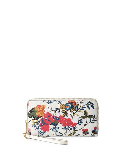 Parker Floral Zip Continental Wallet