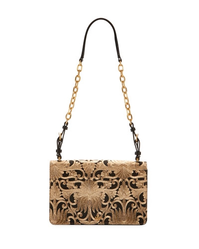 Sadie Brocade Chain Shoulder Bag