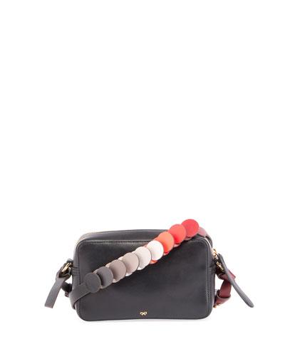 Mini Circle Crossbody Bag, Black