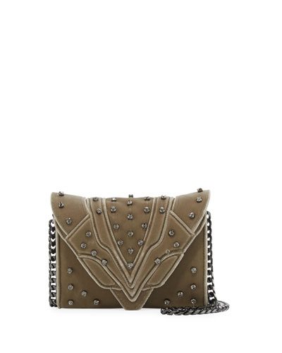 Felina Mignon Small Velvet Crossbody Bag