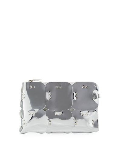 1601 Dragonne Mirrored Pouch Clutch Bag