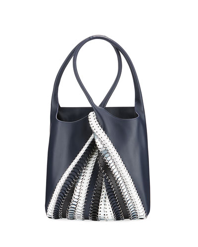 1401 Pliage Chain-Link Tote Bag, Blue