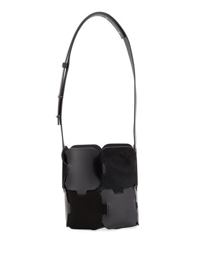 1601 Patchwork Mini Hobo Bag, Black