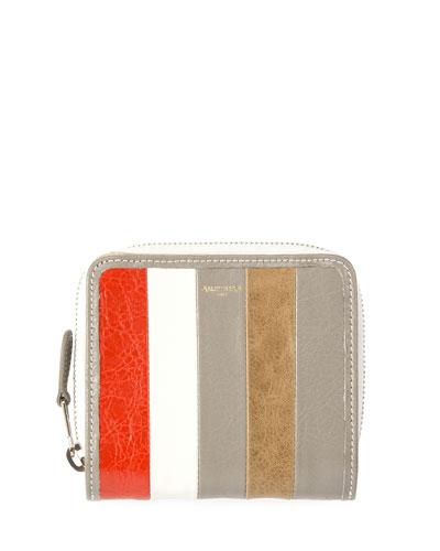 Bazar Striped Billfold Zip-Around Wallet, Multi