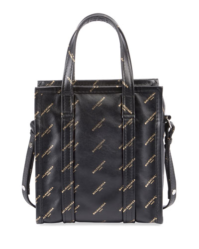 Bazar Shopper AJ XS Tote Bag, Black/Gold