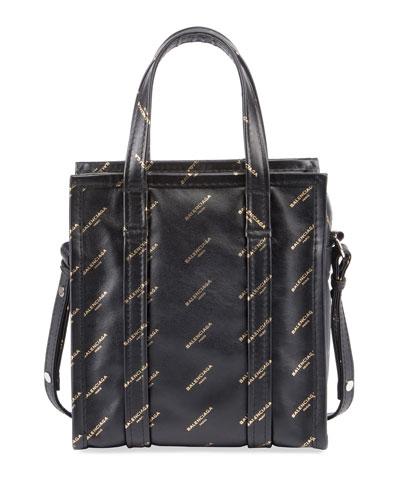 Bazar Shopper AJ XS Tote Bag, Black/Gold