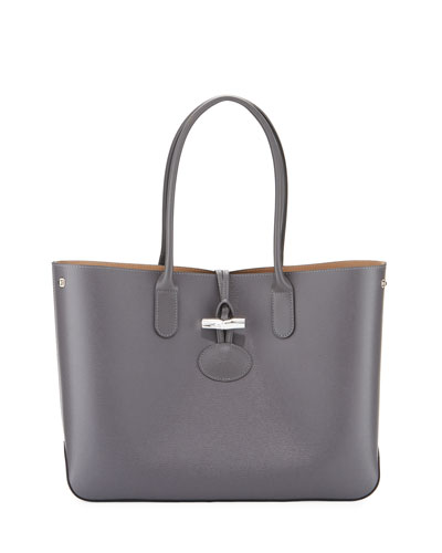 Roseau Reversible Leather Tote Bag