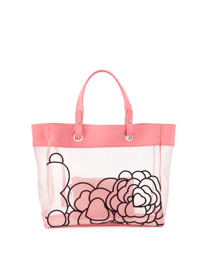 Florence Floral Beach Tote Bag