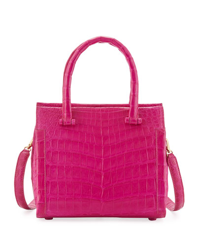 Small Double-Handle Crocodile Handbag