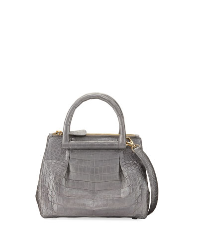 New Mini Plisse Crocodile Crossbody Bag