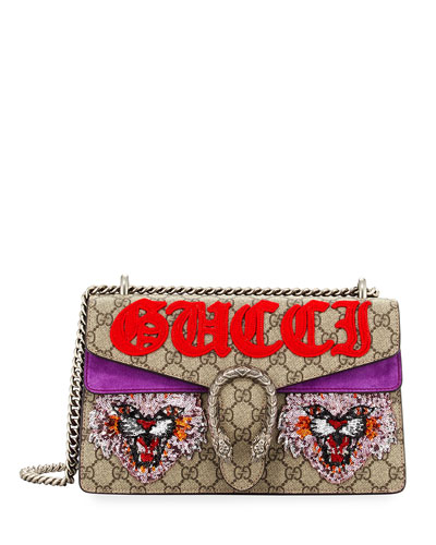 Dionysus Medium Angry Cat Shoulder Bag